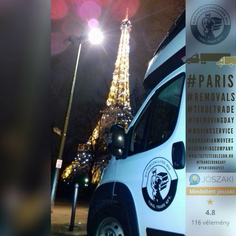 Nemzetközi költöztetés Párizs